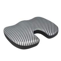 AmazonBasics Memory Foam Seat Cushion - Striped, U-Shape