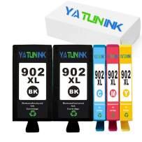 YATUNINK Remanufactured Ink Cartridge Replacement for HP902 902XL Ink Cartridge OfficeJet 6950 OfficeJet 6958 OfficeJet 6962 OfficeJet Pro 6960 6968 6970 6979 (5 Pack)