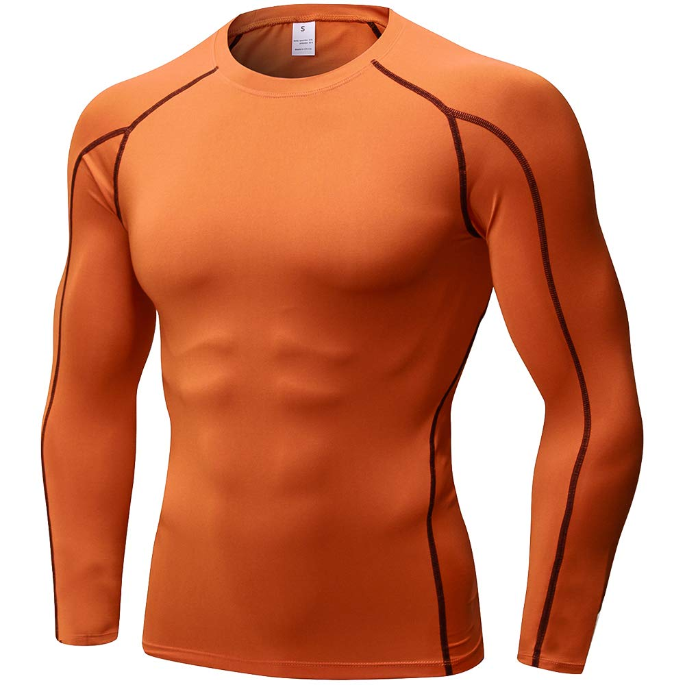 Men's Compression Shirts Long Sleeve, Base-Layer Quick Dry Workout T Shirts Sports Running Tops