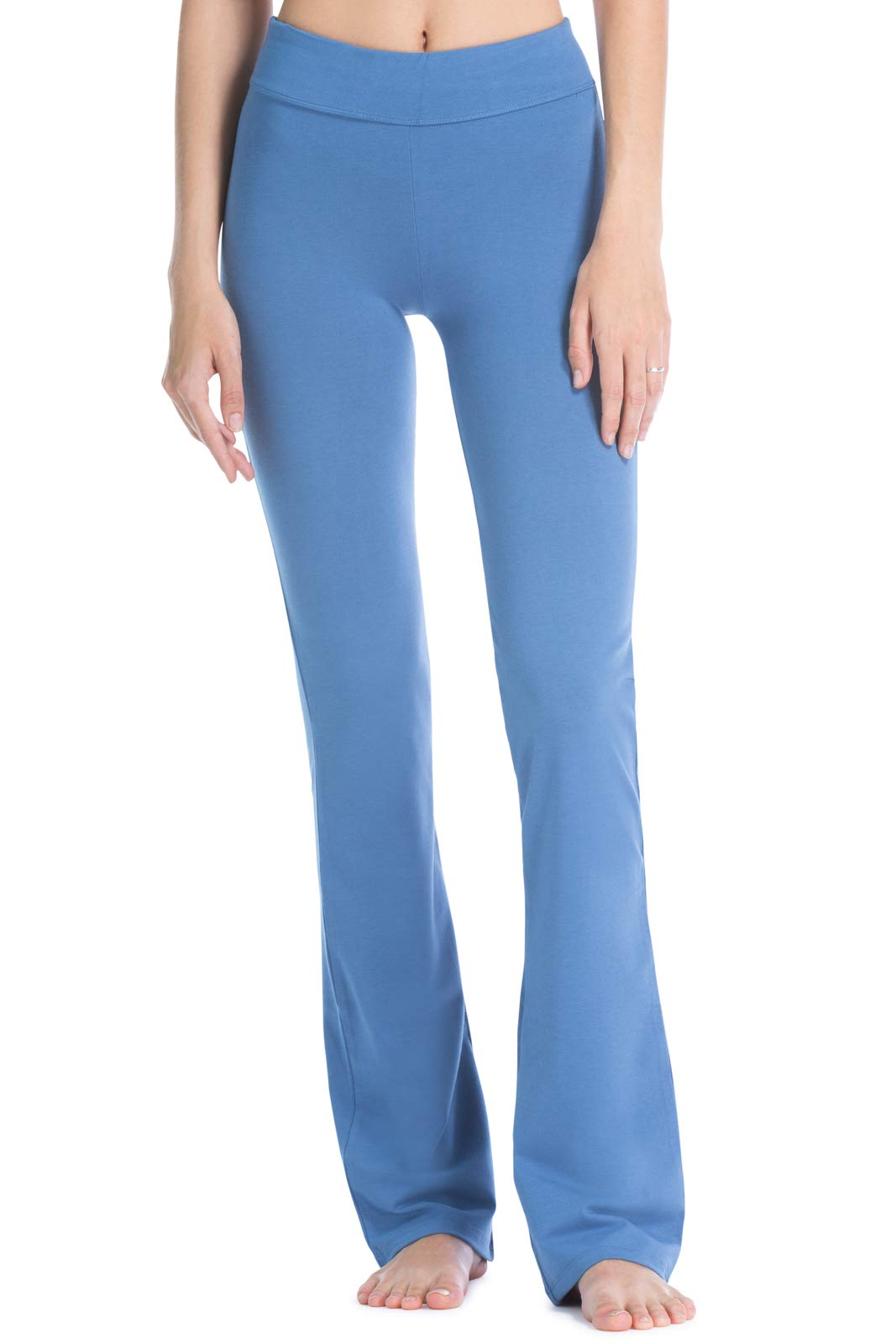 Fishers Finery Women's Ecofabric Classic Bootleg Yoga Pant; Athletic Casual Pant