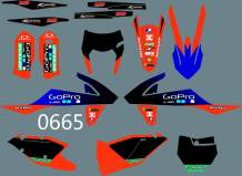 MXP DST0665 Customized Motorcross Graphics Motorcycle Decals Stickers Kit Fit for KTM EXC XCF XCW 2017-2019 & KTM SX SXF XC 2016-2018