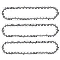 Hayskill 10 inch Chainsaw Saw Chain for Craftsman Poulan Remington Pole Chainsaw Parts 40 Dirve Links .050 Gauge 0.375 Pitch 3Pack