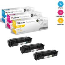 CS Compatible Toner Cartridge Replacement for HP 312A CF381A Cyan CF382A Yellow CF383A Magenta Color Laserjet PRO MFP M476 M476 M476DN M476DW M476NW 3 Color Set