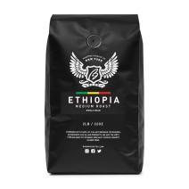 Browny Ethiopia Yirgacheffe Roasted Coffee Whole Beans - Premium Artisan Roast in 32oz (Medium Roast, 2 Pounds)