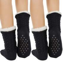 Fuzzy Socks Warm Super Soft Winter Socks for Women & Men Anti-Skid Crew Slipper Socks