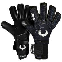 Renegade GK Eclipse Professional Soccer Goalie Gloves with Microbe-Guard (Sizes 7-12, Level 5) Pro-Tek Fingersaves & 4+3MM EXT Contact Grip | Goalkeeper Gloves for Elite Play | Based in The USA