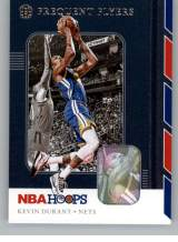 2019-20 NBA Hoops Frequent Flyers #1 Kevin Durant Brooklyn Nets Official Panini Basketball Trading Card Retail Exclusive Insert