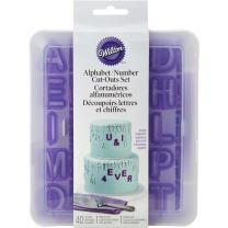 Wilton 417-2589 40-Piece Fondant Alphabet Number Cutouts