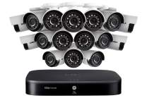 Lorex Weatherproof Indoor/Outdoor Wired Home Surveillance Security System- 16, 1080p Bullet Cameras w/Night Vision, Ad Motion Detection & Smart Home Voice Compatible – Incl 2TB 16 Channel HD DVR