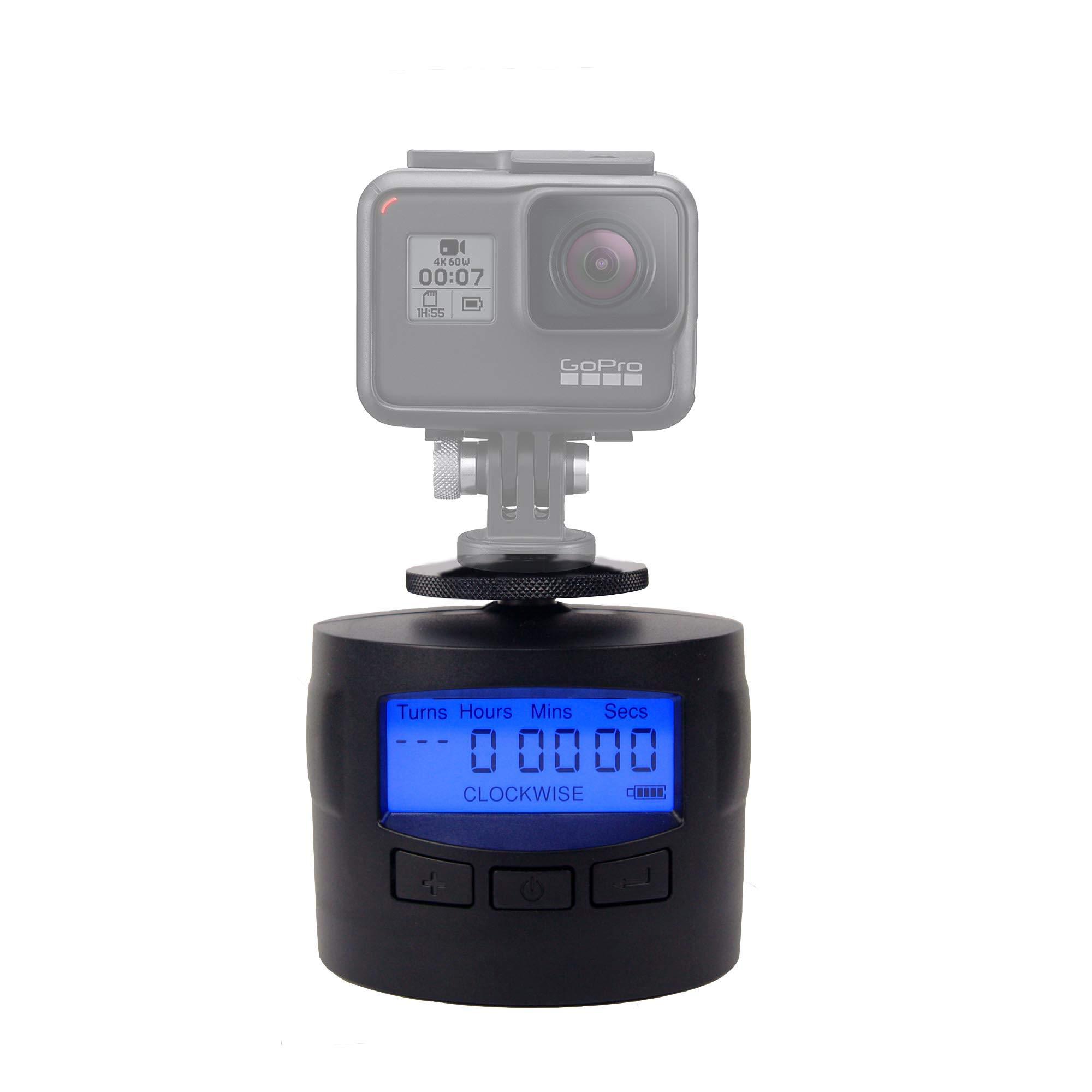 TurnsPro - Time Lapse Camera Mount - Panning Rotating 360 for GoPro DSLR iPhone. Motorised Pan Head for Panoramic Photos