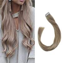 """Full Shine 22"""" 50g Per Package Color #18 Ash Blonde Tape Hair Extensions Brazlian Remy Human Hair Skin Weft 100 Real Human Hair Tape ins"""