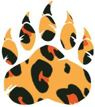 hBARSCI Bear Paw Vinyl Decal - 5 Inches - for Cars, Trucks, Windows, Laptops, Tablets, Outdoor-Grade 2.5mil Thick Vinyl - Leopard Print