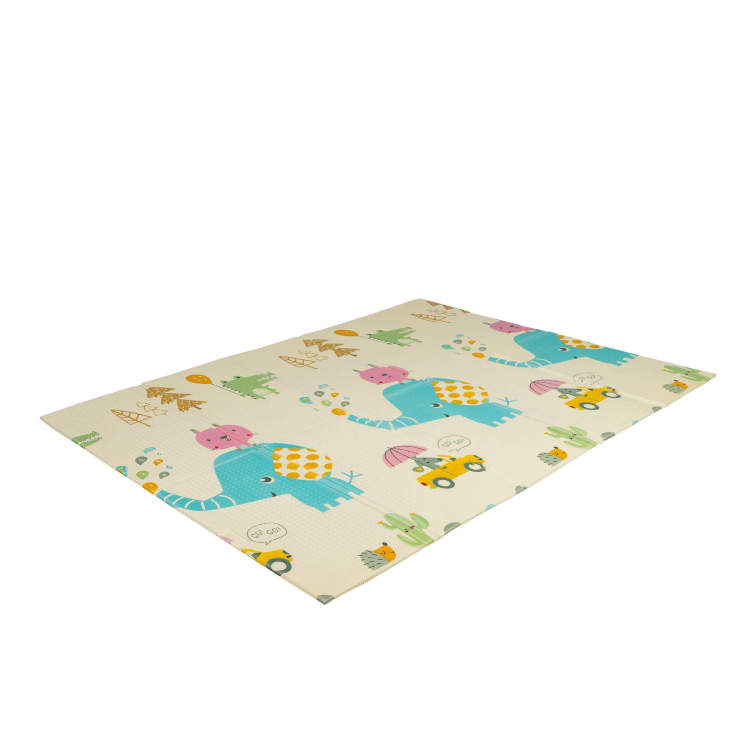 Kinbor Baby Folding Kids Play Mat Reversible XPE Foam Floor Playmat Unisex Playroom and Nursery Mat for Infants Toddlers and Kids 71 × 59 x 0.4 inch