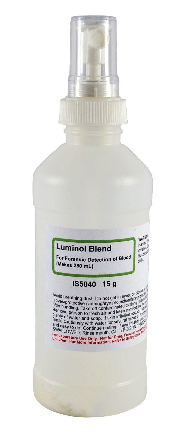 15g Luminol Powder Reagent Used in Forensic Investigation - Makes 250mL of Luminol Spray