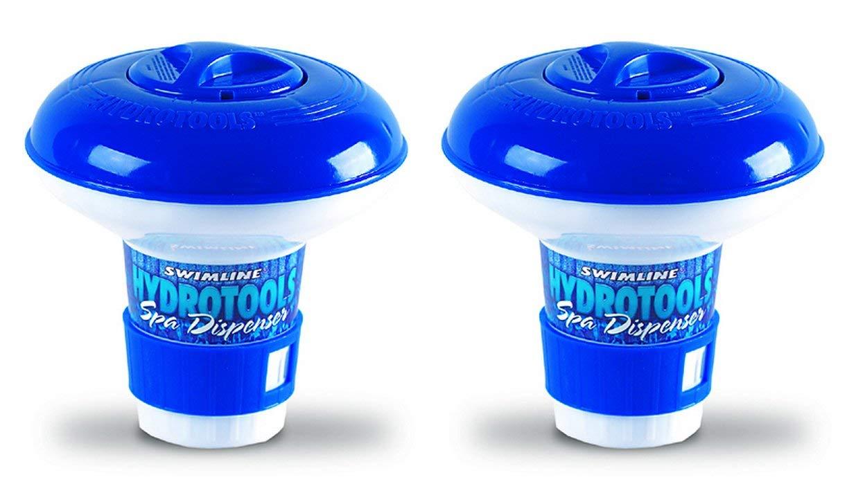 Swimline - 8715 New HydroTools, Pool Mini Chlorine Tablet Floating Chemical Dispensers (2 Pack)