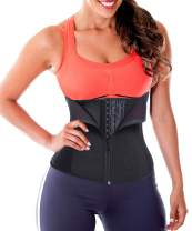TAILONG Women Latex Rubber Waist Trainer Corset Cincher Trimmer Body Shaper Shapewear
