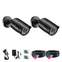 ZOSI 2 Pack 2.0 Megapixel HD 1080P 4 in 1 TVI/CVI/AHD/CVBS CCTV Cameras Day Night Waterproof Camera 100ft IR Distance, Aluminum Metal Housing for HD-TVI, AHD, CVI, and CVBS/960H Analog DVR
