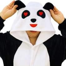 iSZEYU Onesies for Women Panda Adult Onsie Pajamas Sleeper Halloween Costumes