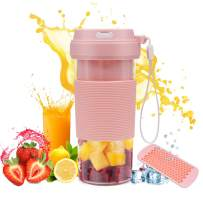 Portable Blender USB Rechargeable, CREATIVE DESIGN Small Blender Cordless Personal Blender for Shakes and Smoothies, 300ml Juice Cup for Travel Home Office