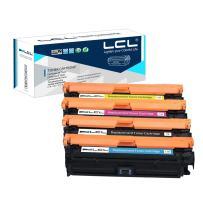 LCL Remanufactured Toner Cartridge Replacement for HP 307A CE740A CE741A CE742A CE743A CP5225 CP5225n CP5225dn (4-Pack Black Cyan Magenta Yellow)