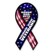 Honor Our Veterans Ribbon Magnet