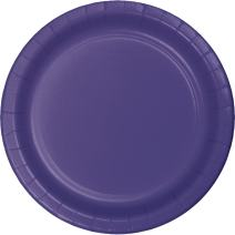 Creative Converting 533268 Touch of Color 96 Count Dessert/Small Paper Plates, Purple -