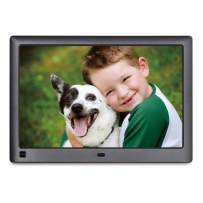 LOVCUBE 10 Inch USB Digital Picture Frame - HD 16:10 IPS Display, Auto-Rotate,Motion Sensor, Remote Control-Mix Photos and Videos in The Same Slideshow
