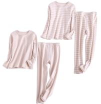 Abalacoco Big Boys Girls 2 Sets Organic Cotton Thermal Undershirts Autumn Winter Underwear Pants Shirt 4-12T