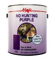 Majic Paints 8-0860-1 No Hunting Purple Paint, 1-Gallon, Purple