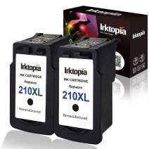 2 Pack Remanufactured Ink Cartridge Replacement for Canon PG 210XL (2 Black) Comptaible with Canon MP495 MP250 MX320 MX410 iP2702 MP280 MX340 MX330 MP240 iP2700 MX420 MP270 MX360 MP490 MP480 MX350 ect