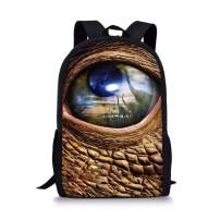 Amzbeauty Dinosaur Tyrannosaurus Rex School Backpack Book Pack Travel Laptop Backpack Teens Boys Girls Kids Unisex 17.3 Inch