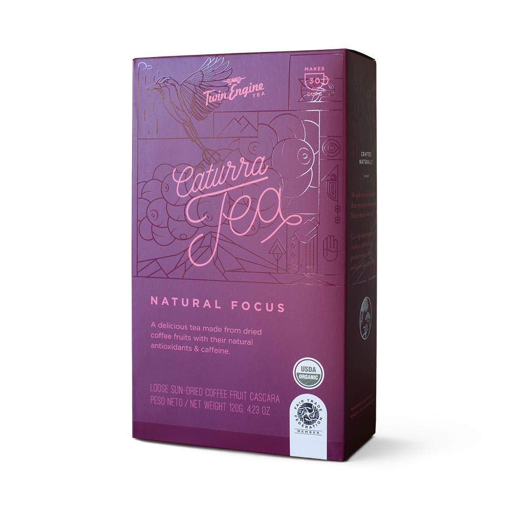 Coffee Cascara, CATURRA TEA, Natural Focus 120g Organic - healthy fruit of the coffee plant!