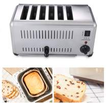 NEWTRY Commercial Toaster 6 Slice Stainless Steel Toaster Heating Machine Adjustable Suitable for Hotel Breakfast ETS-6 (220V)