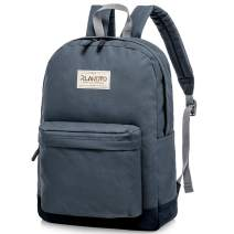 Middle School Bakcpack for Teenagers, Rlandto Water Resistant Basic Backpack with Bottle Side Pockets