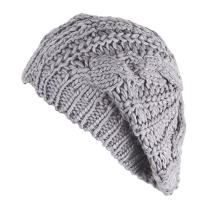 ZHIHONG Women Ladies Baggy Beret Chunky Knit Knitted Braided Beanie Hat Ski Cap