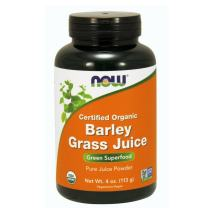 NOW Supplements, Organic Barley Grass Juice, Powder with naturally occurring Nutrients, Chlorophyll, Vitamins, Minerals and Natural Enzymes, 4-Ounce
