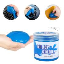 LEHOO Car Reusable Dust Removal Cleaner Universal Cleaning Gel 210g for Car Vents, Leather seat, PC Tablet, Laptop Keyboards, Cameras, Printers, Calculators and Other Smooth Surfaces (Blue)