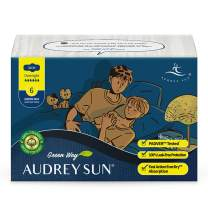 AUDREY SUN Organic Pads for Women Overnight - Organic Overnight Pads with Wings - Organic Pads Menstrual - Overnight - 6 Count 12 Total (Packaging May Vary)