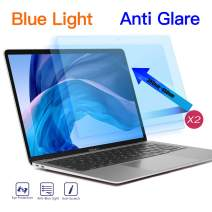 2 Pack Anti Blue Light Screen Protector for 2020 2019 New MacBook Air 13 Model A1932 A2179, Anti Glare Eye Protection Filter MacBook Air 13 inch with Retina Display and Touch ID