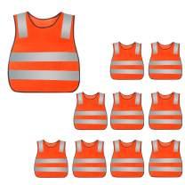 AIEOE High Visibility Safety Vest Children Bright Vest 10/15/20Packs
