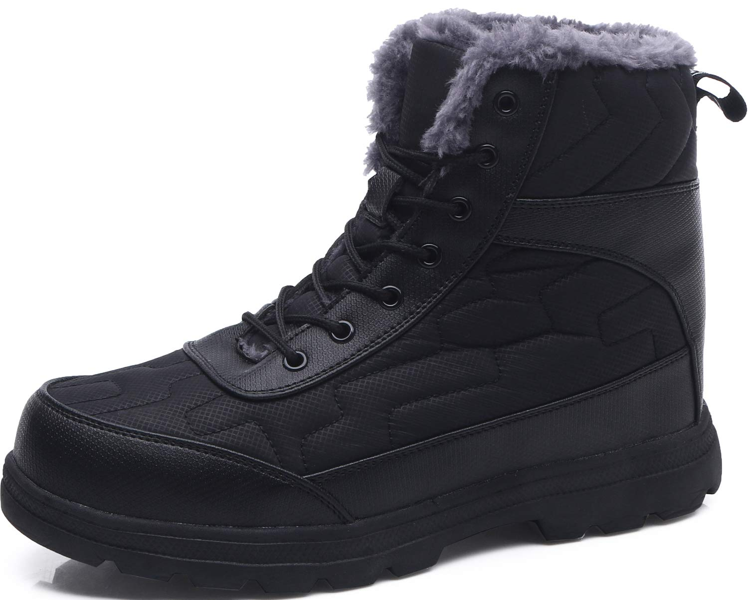 Scurtain Unisex Snow Boots Waterproof Anti-Slip Winter Fur Lining Booties for Womens and Mens