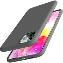 TOZO for iPhone 11 Pro Max Case 6.5 Inch (2019) Liquid Silicone Gel Rubber Shockproof Shell Ultra-Thin [Slim Fit] Soft 4 Side Full Protection Cover for iPhone 11 Pro Max with [Gray]
