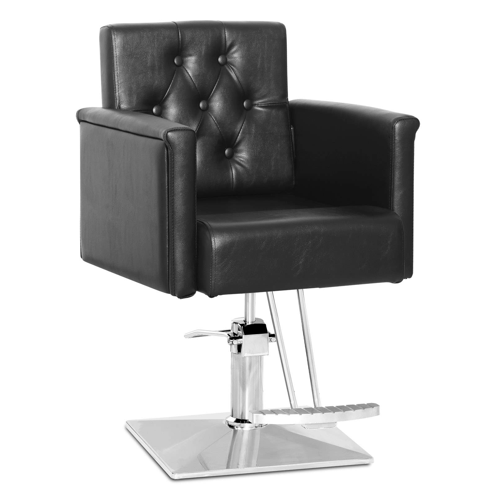 Paddie Salon Chairs for Hair Stylist, Hydraulic Barber Chair All Purpose Classic Styling Chair Beauty Spa Equipment, Black