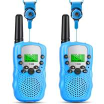 OneBom Toy Walkie Talkies for Girls Boys, Long Range Kids 2 Way Radios for 2 or 3 Year Old Toys T388