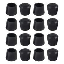 uxcell 16pcs Chair Leg Tips Caps 20mm 3/4 Inch Anti Slip Rubber Furniture Table Feet Cover Floor Protector Reduce Noise Prevent Scratches Black