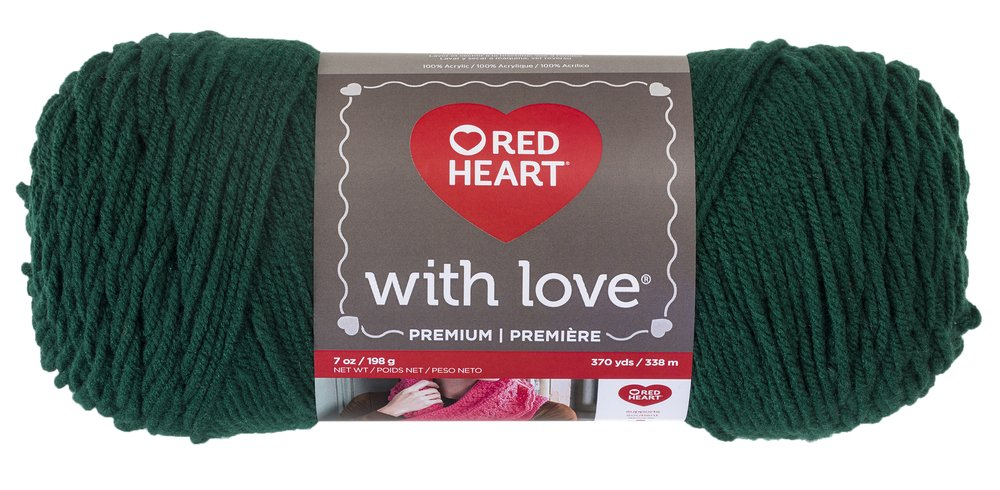 Red Heart With Love Yarn, Evergreen
