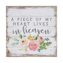 "Simply Said, INC Perfect Pallet Petites 8"" Wood Sign - A Piece of My Heart Lives in Heaven"