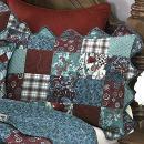 Donna Sharp Pillow Sham - Abilene Patch Contemporary Decorative Pillow Cover with [Pattern Description] - Standard