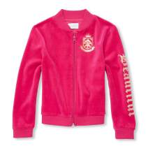 The Children's Place Big Girls Velour Jackets