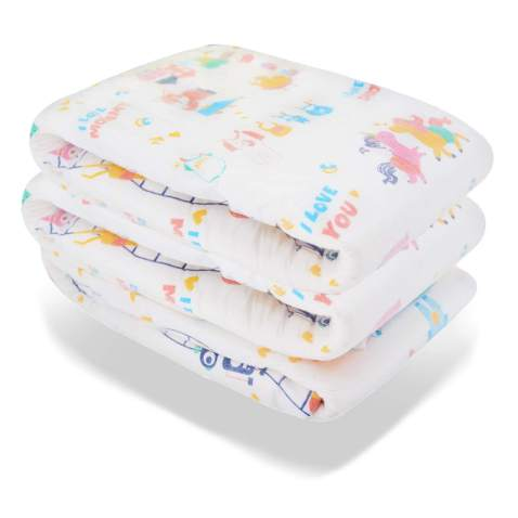 12 Single Layer Incontinence Pad White Sketching on Navy